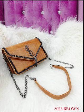 YSL Sling Bag Brown Color