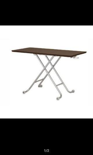 氣壓式升降桌 胡桃色 高度11~70cm
