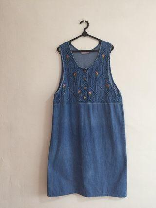 Denim Sleeveless Dress #MRTJurongEast