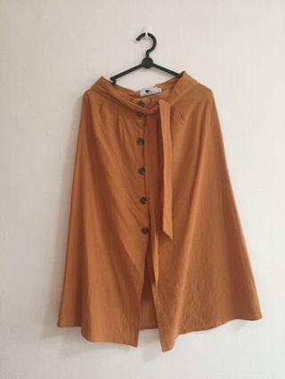TEMT mustard brown skirt #MRTJurongEast