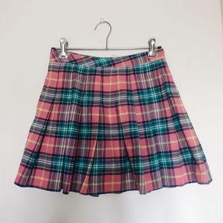 Pink plaid skirt size 6
