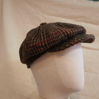 Vintage 80s New York Hat Co Wool Tweed Baker Boy Hat MADE IN USA not rrl levis lee red wing converse hanes jack pro keds
