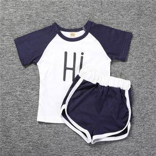 Instock - 2pc hi bye Set, baby infant toddler girl boy