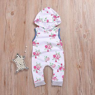 Instock - floral romper, baby infant toddler girl