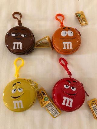 全新杜拜購入M&M巧克力零錢鐵盒包