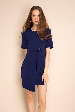 🚚 Cordelia Belted Ribbed Dress
