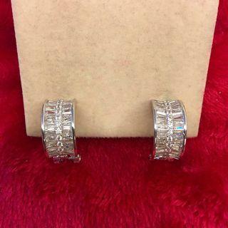 HIGH GRADE simulated diamond earrings