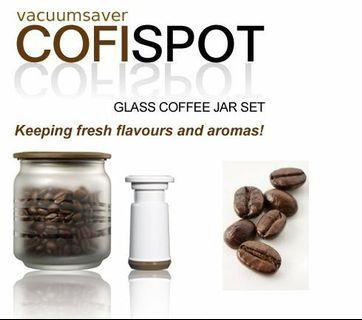 Vacuumsaver Cofispot 2 Pcs Set Glass Jar