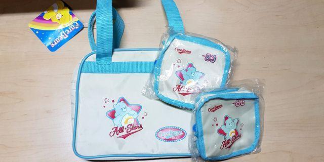 🚚 CareBears bag & 2 pouches