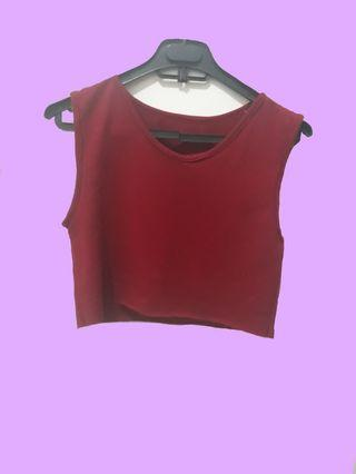 Crop Top Maroon