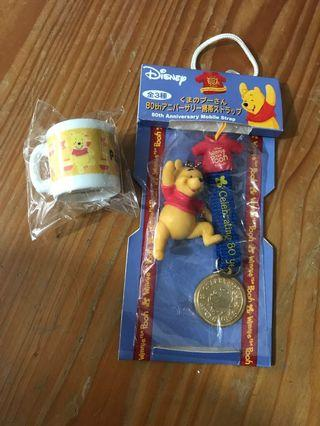 Winnie the pooh 二款飾物(包平郵)