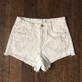⚡️ Zara White High Waist Shorts