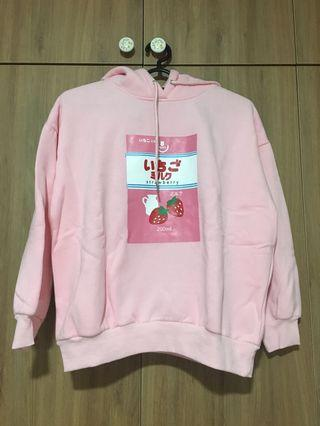 Pink Strawberry Milk Hoodie