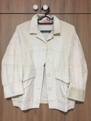 Beige Velvet Corduroy Jacket