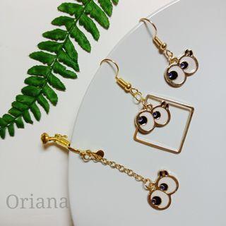 『Oriana』👀大眼耳環📌1對價📌代改耳夾📌現貨秒出耳釘耳針耳環耳飾