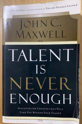 [Free shipping] Talent Is Never Enough by John C. Maxwell
