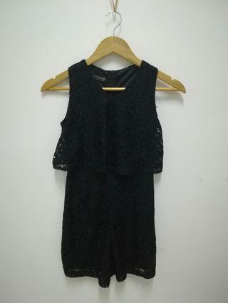 Black Lace jumpsuit (short)
