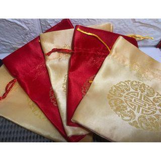 [結婚用品]結婚 滿月 中國風 喜糖袋 回禮袋 紅米袋 零錢袋 $8/16個 不散賣