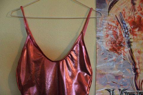 Metallic Pink Leotard