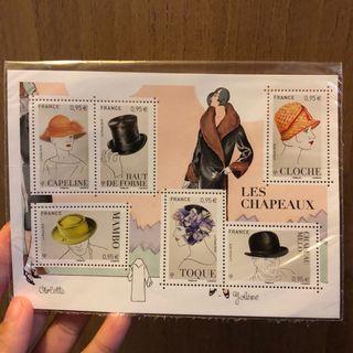 法國時裝帽郵票