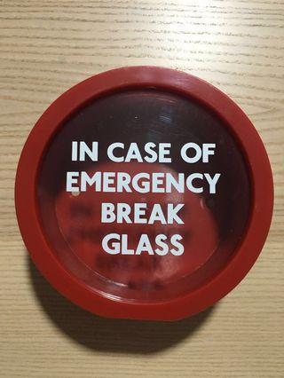 SUCK UK Emergency Break Glass Coin Bank