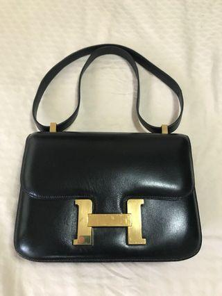 🚚 Authentic Hermes Black Constance 23cm Box GHW