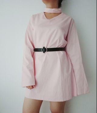 Thrift Pink Choker Dress