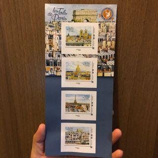 法國景點郵票