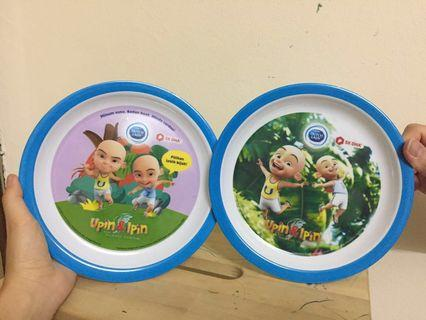 Set of 2 Upin & Ipin Plate
