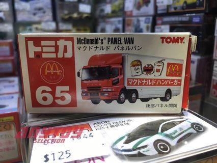 Tomica No.65 McDonald Panel Van 麥當勞貨車