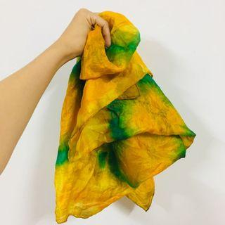 🚚 絲巾 染色 迷幻 歐美