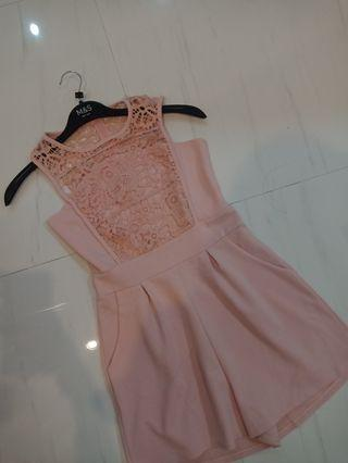 Pink Lace Rompers
