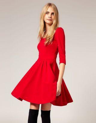 Red Skater Dress Asos