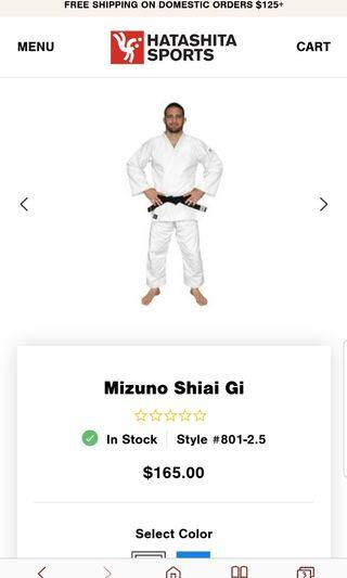 🚚 Mizuno Shiai Gi Size 2.5