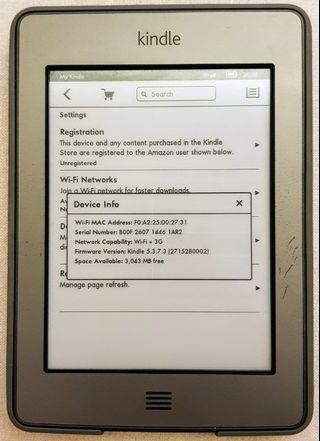 🚚 Kindle Touch 3G+Wifi (4th generation) with leather case