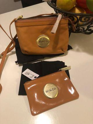 New with tags Authentic mimco pouch & hip bag .. gold hardware REDUCED!!