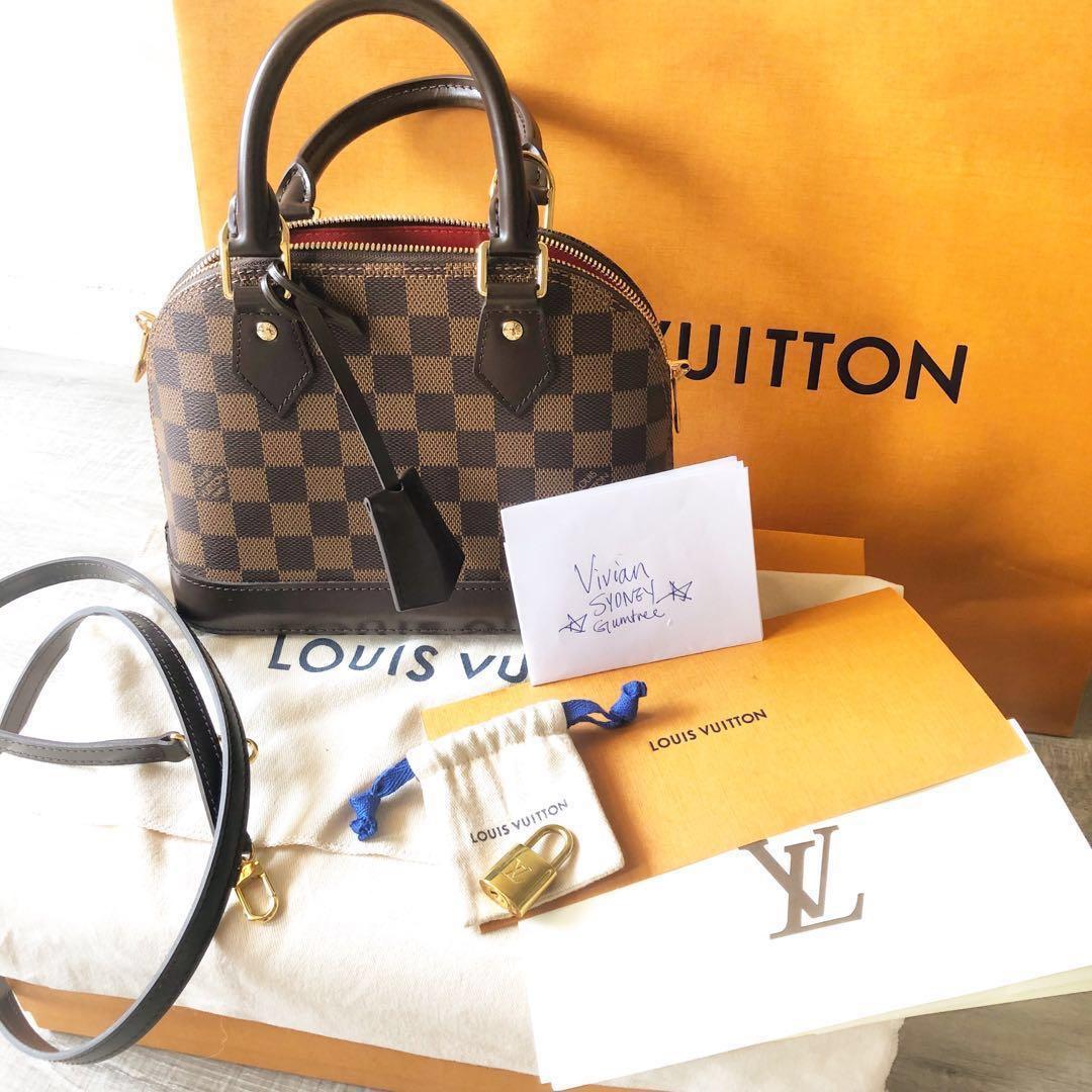 204231e8746d 2018 Louis Vuitton Alma BB bag damier ebene hardly used!