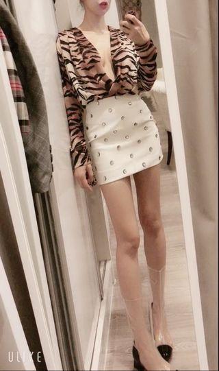 Zara tiger print long sleeve bodycon (new with tag)