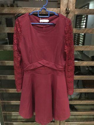 LONGSLEEVE Red Dress Brand NEW (Quality Good)