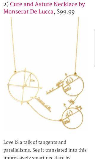 Monserat De Lucca Math Science Geek Designer Art Necklace #endgameyourexcess