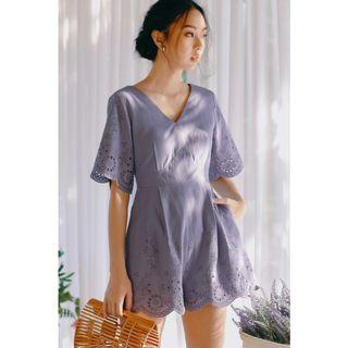 BNWT ATHENS PLAYSUIT IN DUSK PERIWINKLE