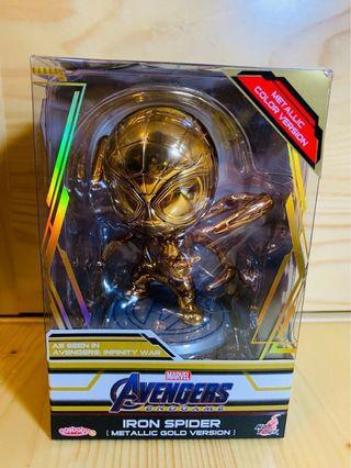 Hottoys Cosbaby Iron spider spiderman Gold version 會場限定 End Game Marvel