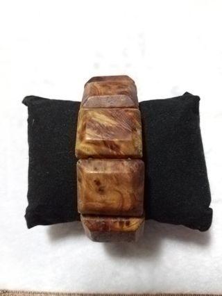 🚚 重油閃花帶瘤花崖柏手排 首飾 手飾 木製品