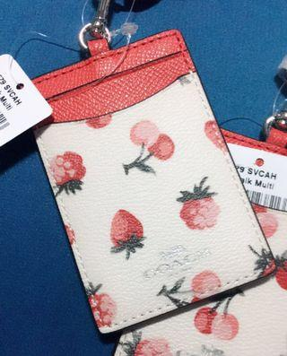 AUTHENTIC BRAND NEW COACH ID LANYARD WITH FRUIT PRINT