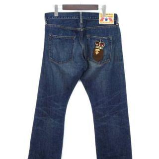 BAPE (A BATHING APE ) JEANS MADE IN JAPAN