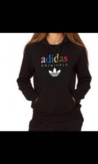 LF Adidas vintage multicoloured rainbow original hoodie