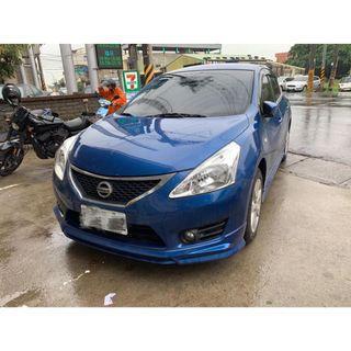【FB搜尋桃園阿承】日產 超人氣BIG TIIDA跑3萬 2014年 1.6 藍色 二手車 中古車