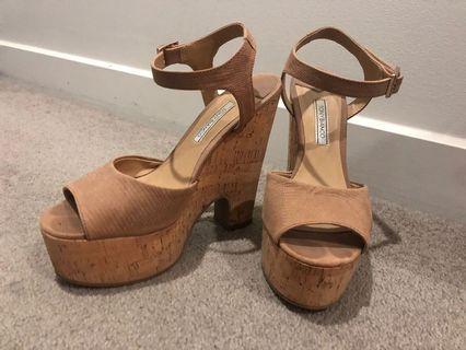 Tony Bianco Nude Platform Shoes