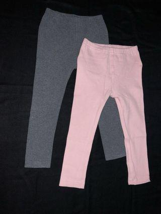 (100cm) Almost New Uniqlo Legging Bundle