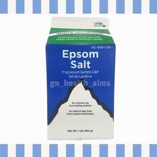皇牌商品 嚴浩推介 正宗盒裝愛生鹽 Epsom Salt 消除疲勞 暗瘡 濕疹 牛皮癬 浸浴 足浴 1/2/3磅